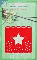 Joy Crafts - Merry's Cutting & Embossing Die - Sweet Christmas Header Tag Star