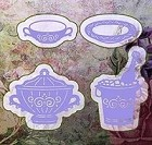 Joy Crafts - Bille's Invitation Cutting & Embossing Die - wine cooler/terrine/saucer