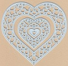 Joy Crafts - Gerti Hofman Cutting & Embossing Die - Gerti's Heart (set of 3 dies)