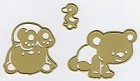 Joy Crafts - Cutting Die - Baby Bears (set of 3 dies)