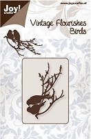 Joy Crafts - Noor! Cutting & Embossing Die - Vintage Flourishes 2 Birds on Branch