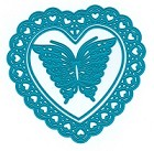 Joy Crafts - Noor Cutting & Embossing Die - Open Heart + Butterfly