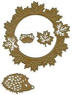Joy Crafts - Cutting & Embossing Die - Autumn Wreath, Acorns and Hedgehog