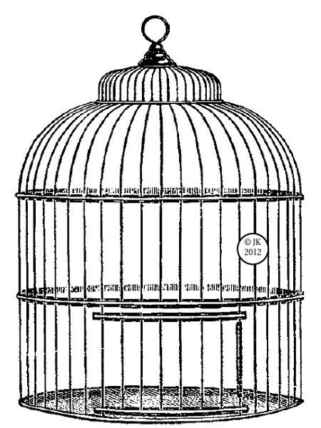 Judi-Kins Wood Mounted Stamp - Big Birdcage