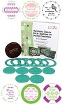 "Just Rite-3~1/4"" Round Stamp Set-Base w/6 Harmony Borders & Centers"