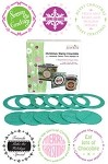 "Just Rite-3~1/4"" Round Stamp Set-Christmas Ensemble Borders & Centers"