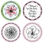 "Just Rite-3~1/4"" Round Stamp Set-Mother Nature's Gifts"
