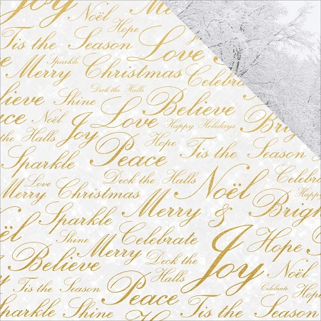 "KaiserCraft - Glisten Collection - 12""x12"" Double Sided Cardstock - Sparkling (foiled)"