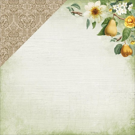 "KaiserCraft - Golden Grove Collection - 12""x12"" Double Sided Cardstock - Sweet Pear"