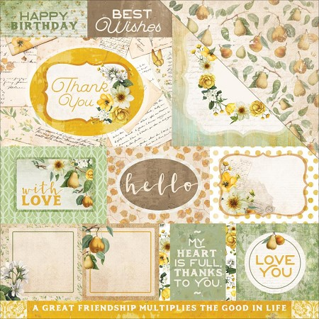"KaiserCraft - Golden Grove Collection - 12""x12"" Double Sided Cardstock - Thoughtful"