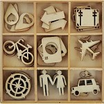 KaiserCraft - Just Landed Collection - Wooden Shapes