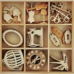 KaiserCraft - Mademoiselle Collection - Antiques Wooden Shapes