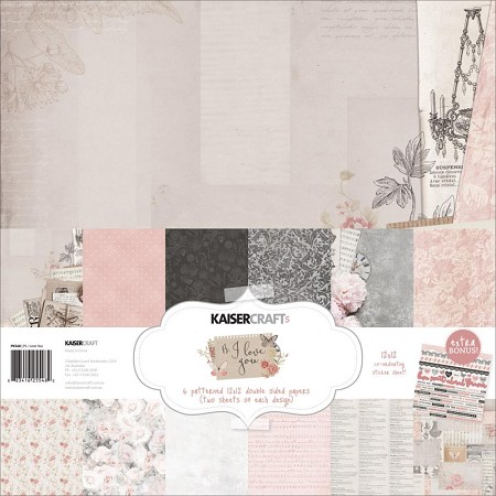 KaiserCraft - P.S. I Love You Collection - Paper Pack