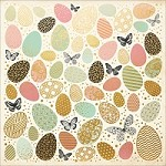 "KaiserCraft - All That Glitters Collection - 12""x12"" Foiled Cardstock - Golden Easter Eggs"