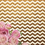 "KaiserCraft - All That Glitters Collection - 12""x12"" Glitter Cardstock - Gold Chevron"