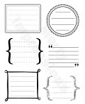 "KaiserCraft - 5.5""x7"" clear stamp set - Journals"