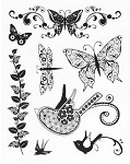 "KaiserCraft - 5.5""x7"" clear stamp set - Flora"