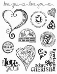 "KaiserCraft - 5.5""x7"" clear stamp set - Love"