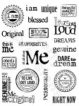 "KaiserCraft - 5.5""x7"" clear stamp set - All About Me"