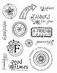 "KaiserCraft - 5.5""x7"" clear stamp set - Friends"