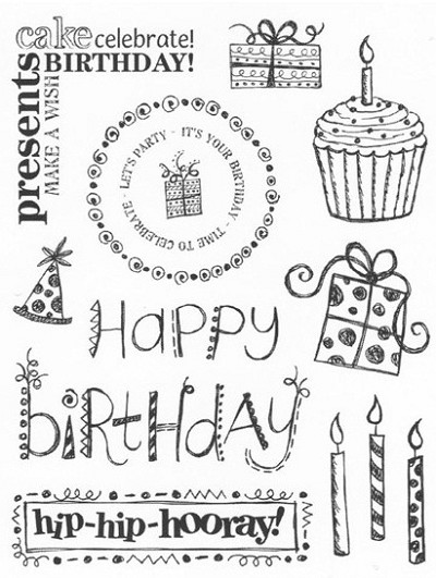 "KaiserCraft - 5.5""x7"" clear stamp set - Birthday"