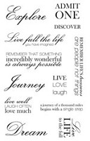 "KaiserCraft - 2"" x 5.25"" Clear Stamp - Life Sentiments"