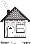 "KaiserCraft - 2.25""x3"" clear stamp  - Home Sweet Home"