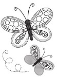 "KaiserCraft - 2.25""x3"" clear stamp  - Butterflies"