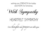 "KaiserCraft - 2.25""x3"" clear stamp  - Sympathy"