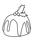 "KaiserCraft - 2.25""x3"" clear stamp  - Christmas Pudding"