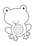"KaiserCraft - 2.5""x3"" clear stamp - Frog"