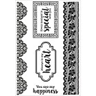 KaiserCraft - Cottage Rose Collection - Clear Stamp