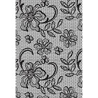 KaiserCraft - Cottage Rose Collection - Floral Lace Background Clear Stamp