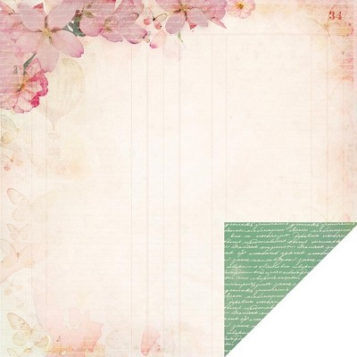 "Kaiser Craft - Enchanted Garden Collection - 12""x12"" Double-Sided Cardstock - Fascinate"