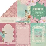 "Kaiser Craft - Enchanted Garden Collection - 12""x12"" Double-Sided Cardstock - Soft Whisper"