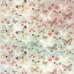 "Kaiser Craft - Enchanted Garden Collection - 12""x12"" Single Sided Glitter Cardstock - Fly"