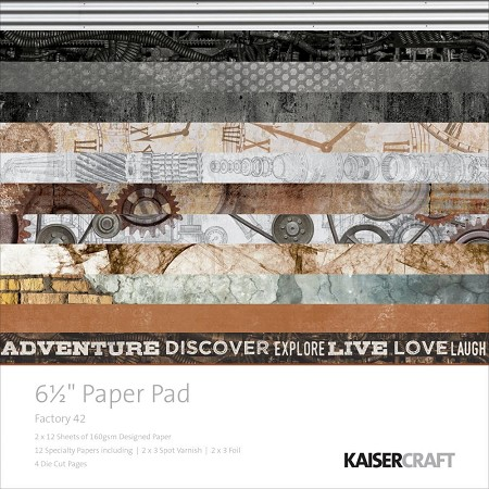 "KaiserCraft - Factory 42 Collection - 6.5""x6.5"" Paper Pad"