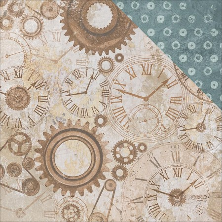 "KaiserCraft - Factory 42 Collection - 12""x12"" Double Sided Cardstock - Gears & Cogs"