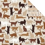 "KaiserCraft - Furry Friends Collection - 12""x12"" Double Sided Cardstock - Paw-Fect"