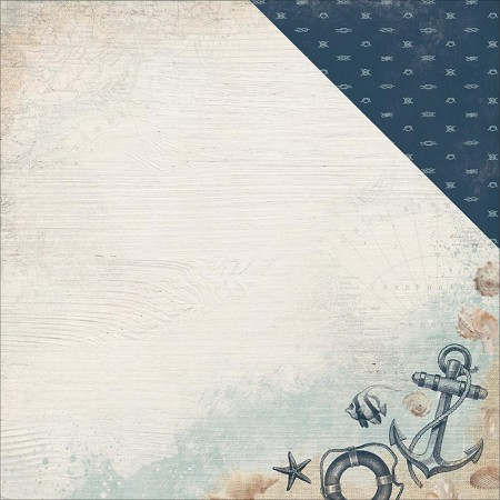 "KaiserCraft - High Tide Collection - 12""x12"" Double Sided Cardstock - Overboard"