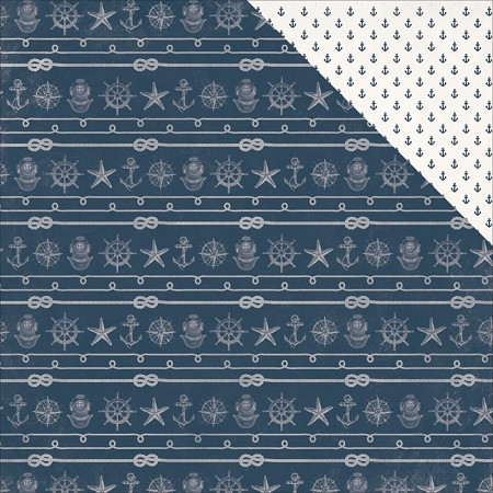 "KaiserCraft - High Tide Collection - 12""x12"" Double Sided Cardstock - Mast"