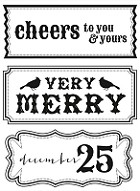Kaiser Craft - Holly Bright Collection - Clear Stamps - Cheers