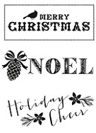 Kaiser Craft - Holly Bright Collection - Clear Stamps - Noel