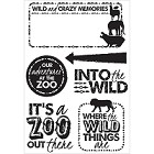 "KaiserCraft - Into The Wild Collection - Clear Stamp (6""x4"")"