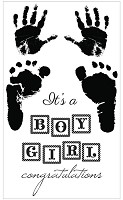 Kaiser - Pitter Patter Collection - Clear Stamps - Boy & Girl