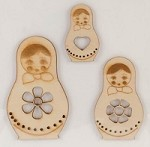 Kaiser Craft - Wood Flourish - Babushka Dolls