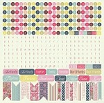 "Kaiser Craft - LuLu & Roy Collection - 12""x12"" Sticker Sheet - Alphabet & Words"
