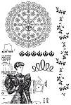 "KaiserCraft - 4""x6"" clear stamp - Madame Boutique"