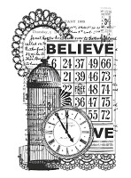 KaiserCraft - Clear Stamp - Vintage Believe