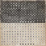 KaiserCraft - Timeless Collection - 12X12 Type Sticker Sheet